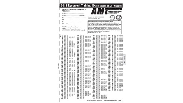 2011 AMT Recurrency Exam