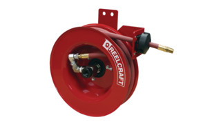 Side mount hose reels