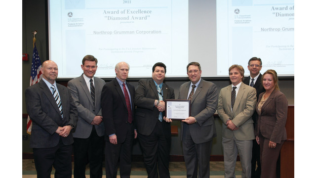Northrop Grumman Receives Second Consecutive FAA Diamond Award for Excellence