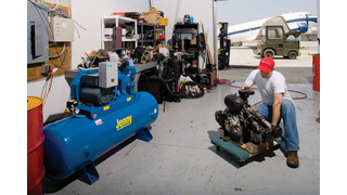 Stationary air compressors
