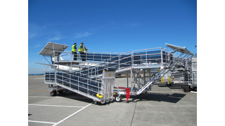 Alaska Airlines Tests Solar-Powered Passenger Ramps
