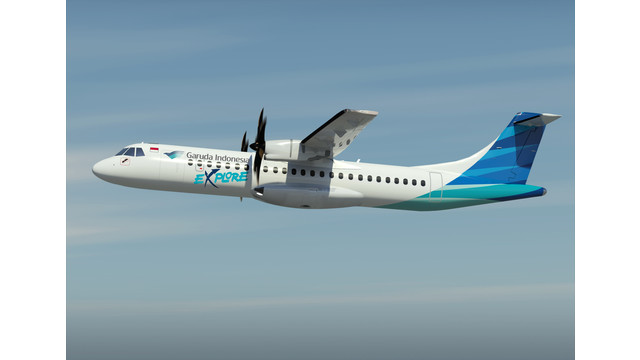 Garuda Indonesia's First ATR 72-600 Takes Off
