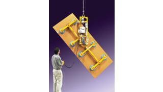 Vacuum lifter-tilter