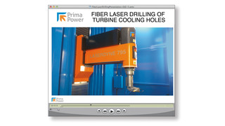 Prima Power Laserdyne Announces A Presentation On Using Fiber Lasers for Drilling Effusion Cooling Holes