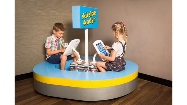 Airside Andy Play Pods Check-in To Swissport Lounge