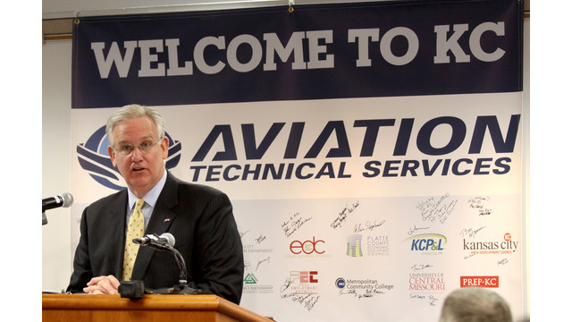 Gov. Nixon Welcomes Aviation Technical Services to Missouri; Company Plans to Create 500 New Jobs at KCI