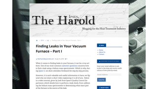 The Debut of The Ipsen, Harold – Simplifying Leak Checks