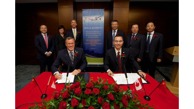 Pratt & Whitney Canada's PW150C Engine Selected to Power AVIC Xi'an Aircraft Company's New MA700 Regional Turboprop