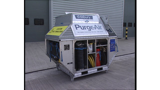 Purge Air aircraft fuel tank rapid purging and venting system.