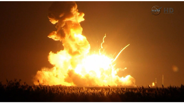 Cause Sought for Space-supply Rocket Explosion