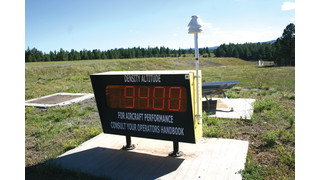 Safety Equipment/Density Altitude Display