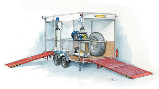 Wheel ' Brake Service Carts