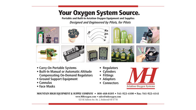 Aviation Oxygen Systems and Accessories