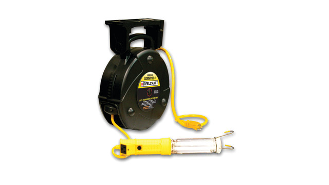 Medium Duty Dual Power and Light Cord Reel
