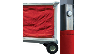 Quick Change Baggage Cart Curtain